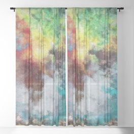 Parturition of Light Sheer Curtain