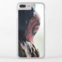 Turkey Vulture Preening Clear iPhone Case