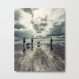 Three Dogs and Three People landscape photograph Metal Print