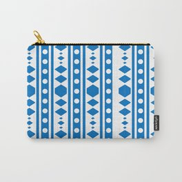 Blue Tribal Pattern Carry-All Pouch