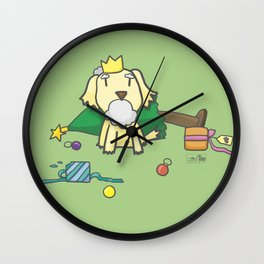 Charlie the Conqueror - Merry Christmas Wall Clock
