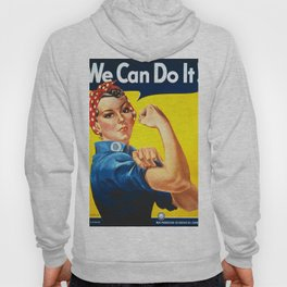 Rosie The Riveter Vintage Women Empower Women's Rights Sexual Harassment Hoody