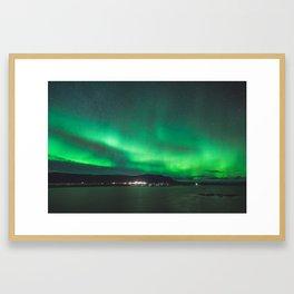 Glowing skies.  |  Wonders of Iceland Framed Art Print