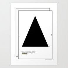 Geometric  - Dreieck . (Spanish) Art Print