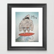 Surf Shark Framed Art Print