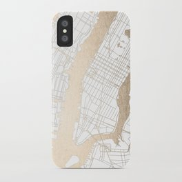 New York City White on Gold iPhone Case