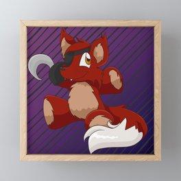 Foxie Plushie Framed Mini Art Print
