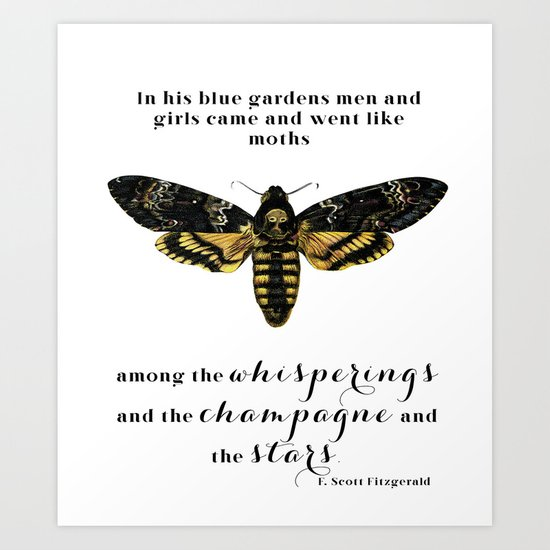 Among the whisperings and the champagne and the stars Art Print