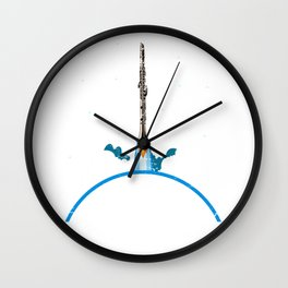 Space Clarinet Player Wall Clock
