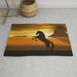 The wild mustang Rug