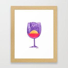 Wining late_v1 Framed Art Print
