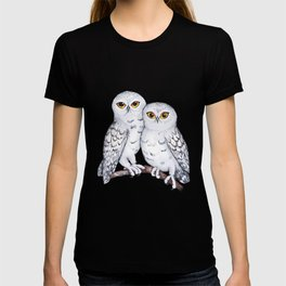 Two lovely snowy owls T-shirt