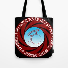 The Prisoner: I will not be pushed, filed, stamped... Tote Bag
