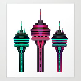 SYNTH TOWER Art Print