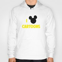 cartoons Hoodies featuring I heart Cartoons by ihearteverything