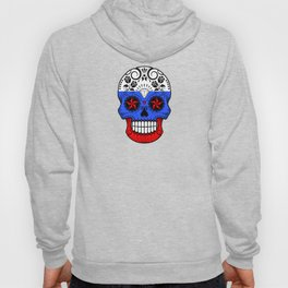 Sugar Skull with Roses and Flag of Russia Hoody
