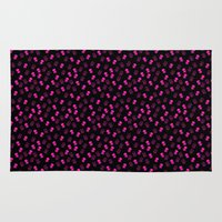 aliens Area & Throw Rugs featuring Aliens-Pink by ts55