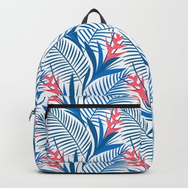 Tropical Flowers Blue&White Backpack