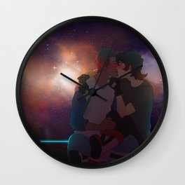 space, galaxies and smooches Wall Clock