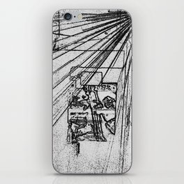 BLACK Electronic Underground #9 iPhone Skin