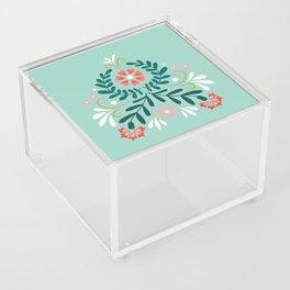 Floral Folk Pattern Acrylic Box