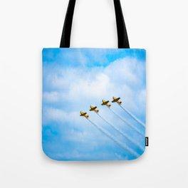 aircraft vintage airplanes aviation Tote Bag
