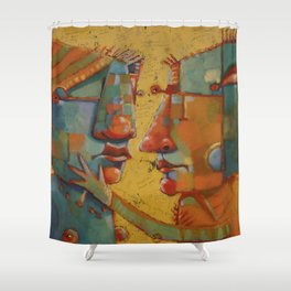 Heartquakes and Jive Shower Curtain