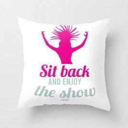 Burlesque show woman dancer Throw Pillow