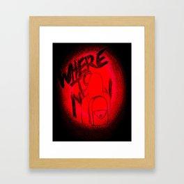 Where To Now? Framed Art Print