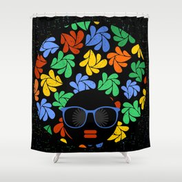 Afro Diva : Colorful Shower Curtain