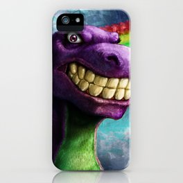 Barney the dinosaur iPhone Case