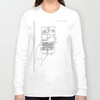 text Long Sleeve T-shirts featuring Text by CreatureContours