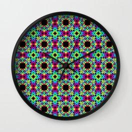 Geometric Colors 2 Wall Clock
