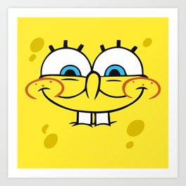 Spongebob Naughty Face Art Print
