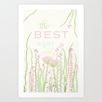be happy Art Prints featuring HaPPy by Monika Strigel