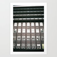 chile Art Prints featuring chile house by denizerdem