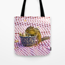 Chipmunk Picnic Tote Bag