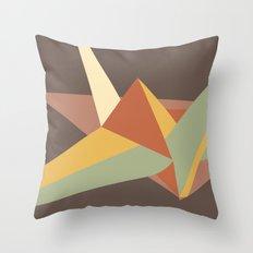 Abstract Crane Throw Pillow