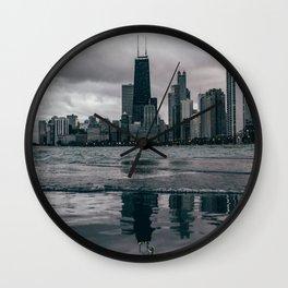Chicago Black & White Wall Clock