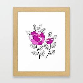 Rosette Mauve Framed Art Print