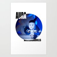 artrave Art Prints featuring AURA ARTRAVE by Sergiomonster
