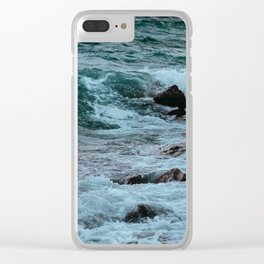 Kissing the Shore Clear iPhone Case
