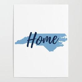 North Carolina Home State Map Print Poster