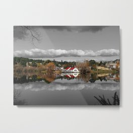 Lake Daylesford Winter Reflections Metal Print
