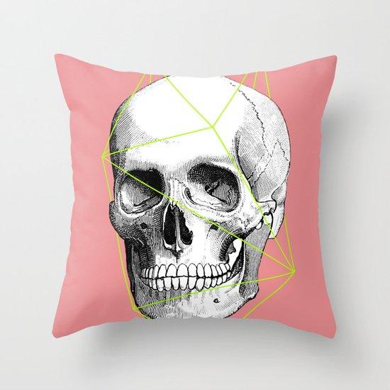Geometric Skull Throw Pillow