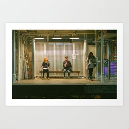 Chicago Train Station Art Print