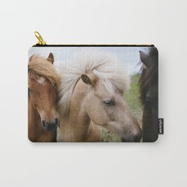 Iceland Horses Carry-All Pouch