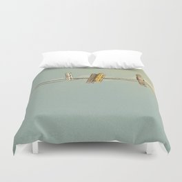 Vintage Clothespin Duvet Cover
