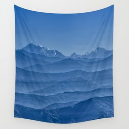 Blue Hima-layers Wall Tapestry