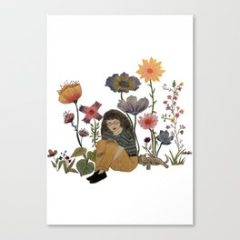 Wildflower Blues. By: Ash Kinslow Canvas Print